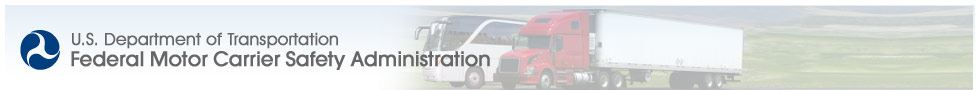 U.S. Department of Transportation Federal Motor Carrier Safety Administration Website